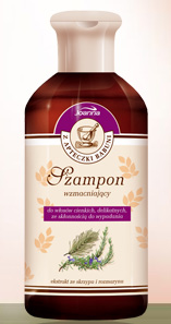 Z apteczki babuni - szampon wzmacniający do włosów cienkich, delikatnych ze skłonnością do wypadania