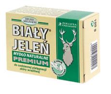 Biały Jeleń - Mydło naturalne premium z dodatkiem lnu