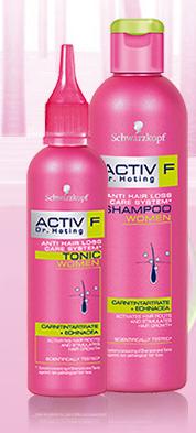 Activ F Dr. Hoting - Szampon dla kobiet przeciwko niepatologicznemu wypadaniu włosów